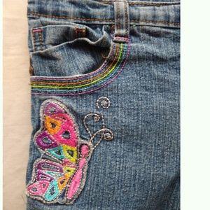 Circo Butterfly Medium Wash Jeans 6X